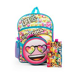 Kids 'Life Is #TooCool' Backpack, Lunch Bag, Pencil Case, Water Bottle & Carabiner Clip Set