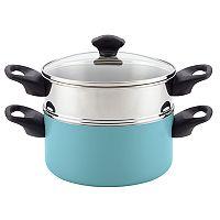 Farberware 3-qt. Nonstick Aluminum Stack 'N' Steam Saucepot & Steamer Insert