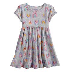 Baby Girl Jumping Beans® Shirred Skirt Pattern Dress