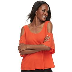 Women's Apt. 9 Cold-Shoulder Strappy Top