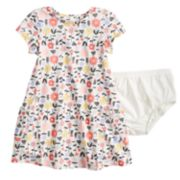 Baby Girl Jumping Beans® Floral Print Recess Dress & Bloomers Set