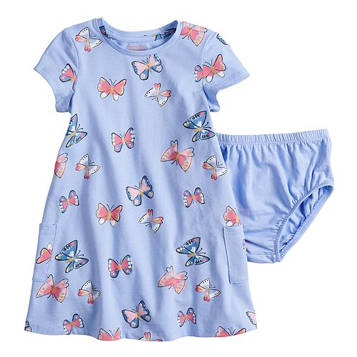 baby girl jumping beans floral print recess dress bloomers set