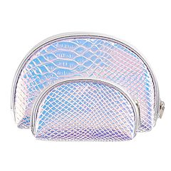 2-Piece Holographic Cosmetic Bag Set