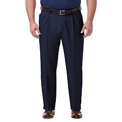 Big & Tall Haggar Premium Comfort Classic-Fit Stretch No-Iron Pleated Dress Pants