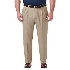Big & Tall Haggar® Premium Comfort Expandable-Waist Classic-Fit Stretch Pleated Dress Pants