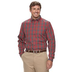 Big & Tall Haggar Weekender Classic-Fit Woven Button-Down Shirt