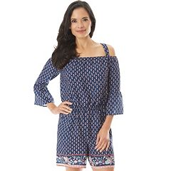 Women's Apt. 9® Off-the-Shoulder Printed Romper