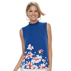 Women's ELLE™ Print Mockneck Top