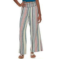 Juniors' Indigo Rein Linen Beach Pant