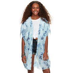 Juniors' About A Girl Tie-Dye Chiffon Kimono