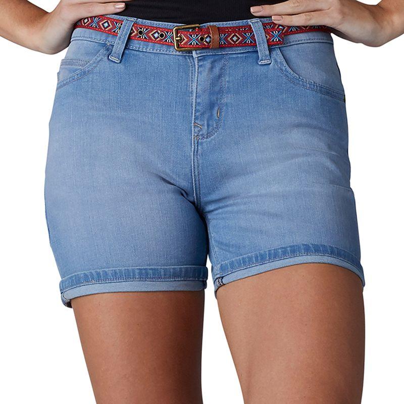Women's Lee Cora Belted Jean Shorts, Size: 4 - regular, Dark Blue