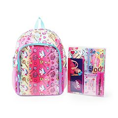 Kids JoJo Siwa Backpack, Portfolio Folder, Pencil Case, Doodle Pad & Accessory Set