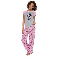 Disney's Minnie Mouse Women's Minnie Tee & Bow Bottoms By Jammies For Your Families