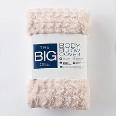 The Big One® Knit & Sherpa Fleece Body Pillow Cover