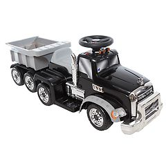 Wonderlanes 6V Mack Truck with Trailer Ride-on Vehicle