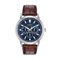 Citizen Eco-Drive Men's Corso Leather Watch - BU2070-12L