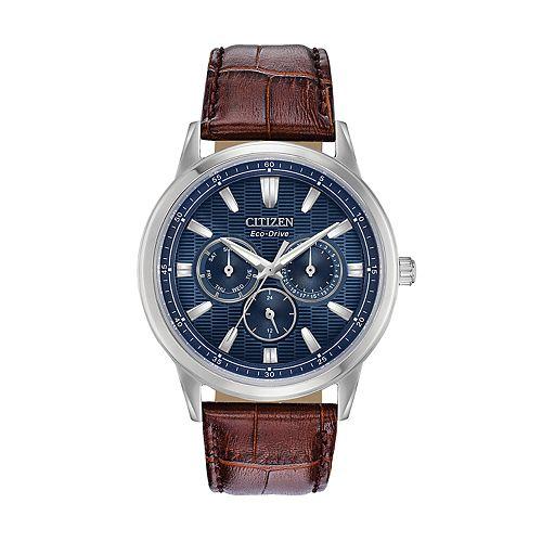 214048b85d7941 Citizen Eco-Drive Men's Corso Leather Watch - BU2070-12L