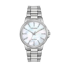 Citizen Eco-Drive Women's Chandler Crystal Stainless Steel Watch - FE7030-57D