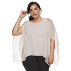 Plus Size Jennifer Cold-Shoulder Top