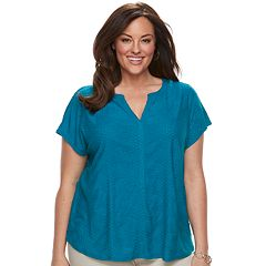 Plus Size Dana Buchman Placket Top