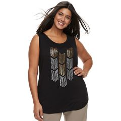 Plus Size Apt. 9® Embellished Tank
