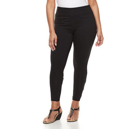 28191c57c9cf32 Plus Size French Laundry Lattice Leggings