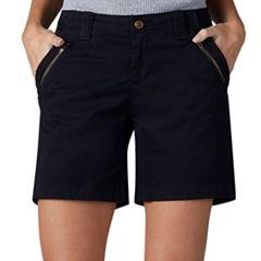 Women's Lee Zippered Twill Shorts