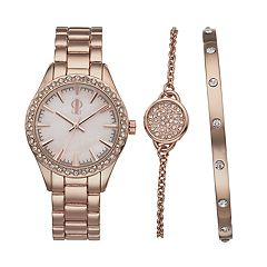 Jennifer Lopez Women's Crystal Watch & Bracelet Set