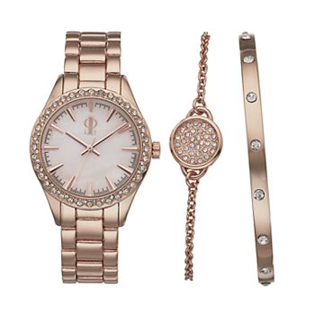 Jennifer Lopez Women S Crystal Watch Bracelet Set