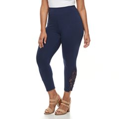 Plus Size French Laundry Lace Capri Leggings