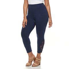 Plus Size French Laundry Lace Capri Leggings