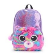 Kids Sequin Plush Critter Backpack