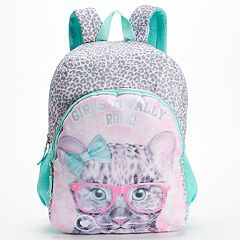 Kids 'Girls Totally Rock' Cheetah Backpack