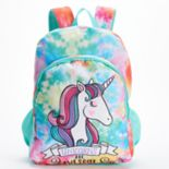 "Kids ""Unicorns Are Awesome"" Tie-Dye Backpack"