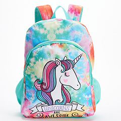 Kids 'Unicorns Are Awesome' Tie-Dye Backpack