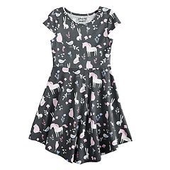 Girls 4-10 Jumping Beans® Printed Circle Hem Dress