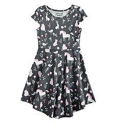 Girls 4-10 Jumping Beans®Printed Circle Hem Dress