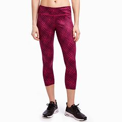 Women's Jockey Sport Geometric Print Midrise Capri Leggings
