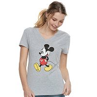 Disney's Mickey Mouse Juniors' Classic V-Neck Tee