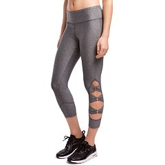 Women's Jockey Sport Triple Loop Midrise Capri Leggings