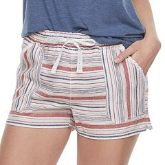 Juniors' Rewind Drawstring Shorts