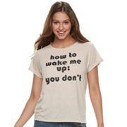 Juniors' 'How To Wake Me Up' Graphic Tee