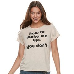 Juniors' 'How To Wake Me Up' Graphic Tee