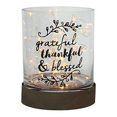 Manor Lane 'Blessed' Hurricane Table Decor
