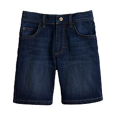 Boys 4-7x Lee Dungaree Dark Wash Denim Shorts