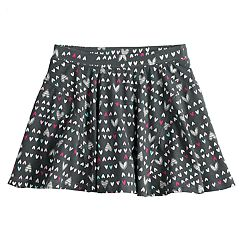Girls 4-10 Jumping Beans® Printed Pieced Skater Skort