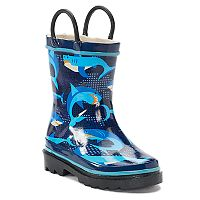 Western Chief Pixel Shark Camo Girls' Waterproof Rain Boots