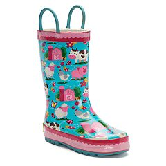 Western Chief EE-I-EE-I-OH Girls' Waterproof Rain Boots
