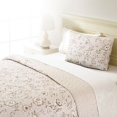 Home Classics® Sarah Pinstripe Floral Quilted Sham