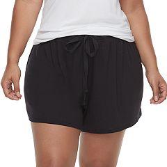 Plus Size SONOMA Goods for Life™ Ribbed Pajama Shorts